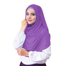 Hana Ceruti Hijab Jilbab Instan Instant - [Warna Ungu]