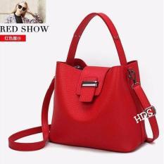 Hand Bag Korean Style Bulva ( Tas Jinjing / Tas Bahu/ Tas Selempang Korean Style) Red