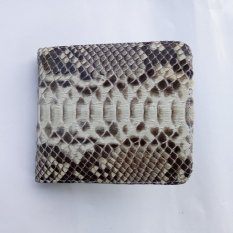 Hand Made Dompet Kulit Ular Python Asli Model Bifold Fashionable dan Elegan