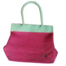 Hand Made Tas Rajut Dowa Bahan Nylon Horizon Pink