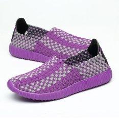 Jual Tenunan Tangan Sepatu Pasangan Ungu Branded