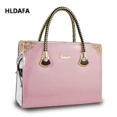 Handbag Baru Ladies Sweet Terang Lacquer Pearl Jelly Top-Handle Bags (Pink)-Intl