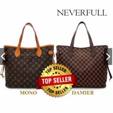HANDBAGKU TAS NEVERFULL DAMIER GROSIR fashion wanita branded import batam murah totebag slempang