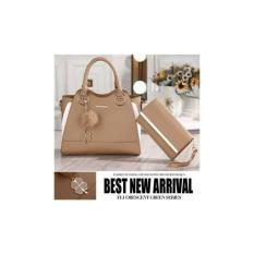 Diskon Handbags Tas Kerja Wanita Fashion Bag Elegan 62633 Set 2In1 Import Korea Murah Kado Wm Fashionis Multi Indonesia