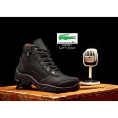 Jual Cepat Handmade Sepatu Boots Pria Morisey Safety Trendy Touring Black