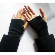Handsock Jempol Polos - Manset Tangan Jempol Polos Premium Aksesoris Berhijab Aksesoris Muslim Wanita Deker Tangan Sarung Tangan Muslimah Pelindung Tangan Anti Panas - Warna Random