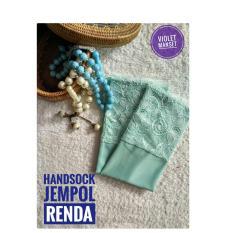 Handsock Jempol Renda Hijau Mint