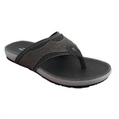 Toko Handymen Pu 04 Sandal Denim Leather Black Brown Lengkap