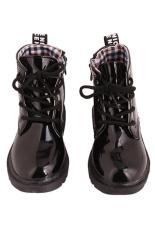 Harga Menggantung Hang Qiao Gaya Fashion Anak Martin Adapula Tema Kotak Kotak Kets Sepatu Botnya Hitam Satu Set
