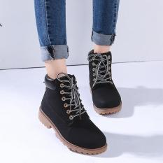 Spesifikasi Menggantung Hang Qiao Fashion Wanita Pergelangan Kesemek Martin Boots Sepatu Tempur Militer Hitam Terbaik