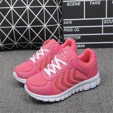 Spesifikasi Hang Qiao Fashion Wanita Sneakers Breathable Mesh Menjalankan Olahraga Sepatu Rose Intl