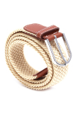 Promo Hang Qiao Pria Elastis Woven Belt Brown