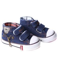 Harga Hang Qiao Baru Kanvas Sepatu Anak Anak Kids Sneakers Unisex Flat Boots Dark Blue Yang Murah