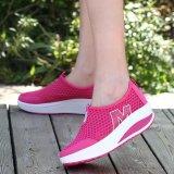 Beli Hang Qiao Baru Tinggi Meningkatkan Sepatu Kasual Wanita Wedges Sepatu Hotpink Intl Murah Tiongkok