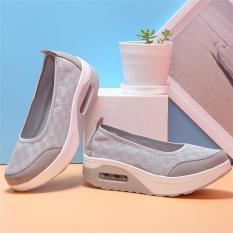 Menggantung Hang-qiao Yang Baru Menjabat Gaya Fashion Sepatu Wanita Kasual Sepatu Kebugaran (Abu-abu)