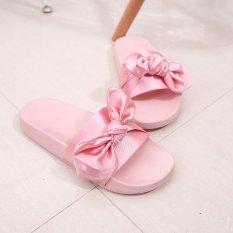 Model Hang Qiao Sutra Sandal Datar Tumit Flip Jepit Ladies Musim Panas Pantai Sepatu Pink Intl Terbaru