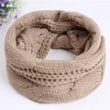 Jual Hang Qiao Wanita Neckerchief Winter Warm Scarf Kerah Twist Korea Scarves Khaki Intl Hang Qiao Online
