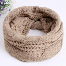 Hang Qiao Wanita Neckerchief Winter Warm Scarf Kerah Twist Korea Scarves Khaki Intl Terbaru