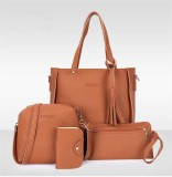 Beli Hanker Four Pieces Of Messenger Bag Handbag Mobile Phone Bag Card Bag Intl Kredit Tiongkok
