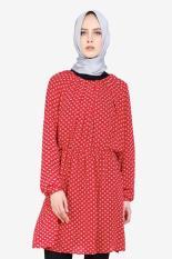Hanna Hijab  Women Clothing Dresses  Wanita Pakaian Dresses Red Merah Diskon discount murah bazaar baju celana fashion brand branded