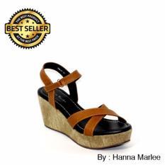 Hanna Marlee Wedges Sandal Hm 01 Tan Asli