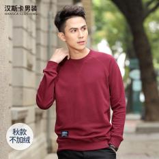 Jual Korea Fashion Style Musim Semi Dan Musim Gugur Leher Bulat Lengan Panjang Kebugaran Kaos Sweater Model Musim Gugur Merah Anggur Murah Di Tiongkok