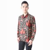 Review Hansen Lisa Kemeja Batik Formal Lengan Panjang Flowerblack Hitam Terbaru