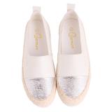 Spesifikasi Hanyu Kualitas Tinggi Datar Wanita Padanya Kasual Kulit Serta Loafers Putih Internasional Online