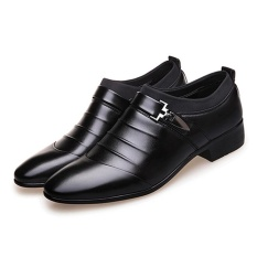 Hanyu Sepatu Pria Sepatu Pebisnis Formal Sepatu Kulit Formal Kasual (Hitam)
