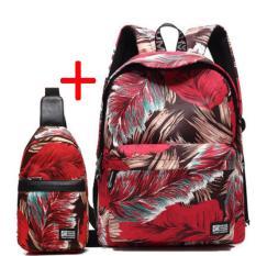 Promo Cotton Backpack Sederhana Menghirup Udara Segar Chool Man Wanita Boys Girls Backpack Bahu Intl Indonesia