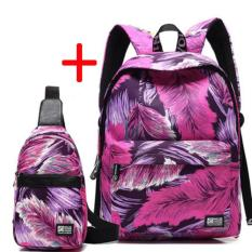 Diskon Cotton Backpack Sederhana Menghirup Udara Segar Chool Man Wanita Boys Girls Backpack Bahu Intl Oem