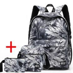 Spek Haotom Cotton Backpack Sederhana Siswa Smp Seperti Menghirup Udara Segar Chool Man Wanita Boys Girls Korea Backpack Bahu Intl Haotom