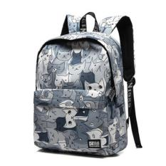 Jual Haotom Cotton Bag Fashion Trend Backpack High G*Rl Boy Korean Style Campus Simple Canvas Backpack Outdoor Intl Di Tiongkok