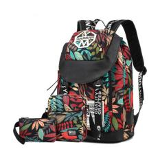 Jual Haotom Cotton Simple Canvas Backpack Junior Sch**l Student Sch**l Opens Girls Boys Korean High Sch**l Student Knapsack Backpack Travelling Bag Intl Haotom Grosir