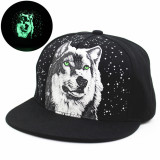 Diskon Hot Baseball Snapback Adjustable Topi Wolf Boy G*Rl Bercahaya Cap Night Glow Hip Hop Dance Hat Intl Haotom Tiongkok