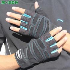 Spesifikasi Haotom Mens And Wanitas Outdoor Mountaineering Sepeda Kebugaran Shockproof Non Slip Olahraga Sarung Tangan Half Finger Sarung Tangan Yg Baik