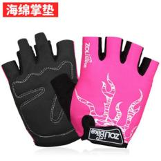 Pusat Jual Beli Haotom Mens And Wanitas Outdoor Mountaineering Sepeda Kebugaran Shockproof Non Slip Olahraga Sarung Tangan Half Finger Sarung Tangan Tiongkok