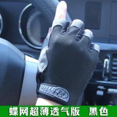 Toko Haotom Mens And Wanitas Outdoor Mountaineering Sepeda Kebugaran Shockproof Non Slip Olahraga Sarung Tangan Half Finger Sarung Tangan Online Tiongkok