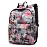 Haotom Sederhana Canvas Backpack Junior Siswa Sekolah Menengah Seperti Menghirup Udara Segar Boys And Girls Korea Senior High Sch**l Ransel Pelajar Internasional Promo Beli 1 Gratis 1