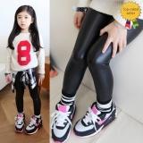 Beli Happycat 2016 Hot Fashion G*Rl Anak Anak Anak Anak Kulit Sintetis Skinny Pants Stretch Lengan Panjang Panjang Legging Hitam 100 Kredit Tiongkok
