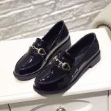 Jual Harajuku Inggris Musim Semi Dan Musim Gugur Baru Siswa Sepatu Wanita Sepatu Kulit Kecil Hitam Bergesper Antik