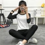 Diskon Besarharajuku Korea Fashion Style Angin Siswa Leher Bulat Lengan Panjang T Shirt Pakaian Wanita Baju Musim Gugur Abu Abu Baju Wanita Baju Atasan Kemeja Wanita