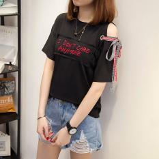 Harga Harajuku Korea Fashion Style Baru Angin Mengambang Tali T Shirt 616 Hitam Oem Asli
