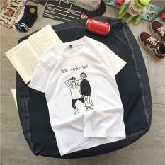 Harajuku Korea Modis Gaya Lengan Pendek Kaos (Melihat Apa Anda Melihat Baju Kaos Putih/Putih)