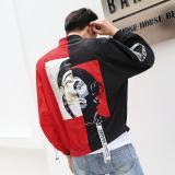 Jaket Hip Hop Korea Pria Merah Pertarungan Hitam Model Merah Pertarungan Hitam Model Promo Beli 1 Gratis 1