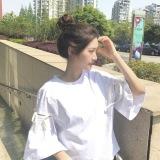 Diskon Besarharajuku Korea Fashion Style Perempuan Angin Ukuran Besar Atasan Kaos Putih