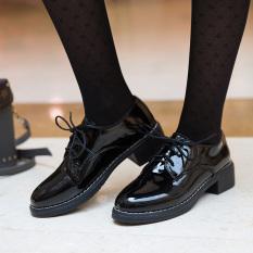 Jual Harajuku Korea Fashion Style Perempuan Baru Siswa Sepatu Wanita Sepatu Kulit Kecil Model Wanita Hitam Kulit Terang Tiongkok Murah