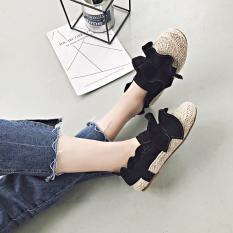 Sepatu Tods Wanita Sol Datar Versi Korea (Hitam) (Hitam)