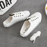 Harga Harajuku Korea Fashion Style Siswa Perempuan Kanvas Sepatu Slip On Sepatu Kets Putih Putih Terbaru