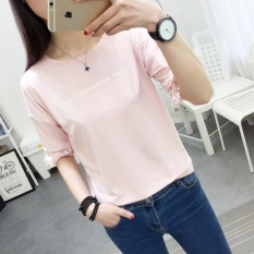 Diskon T Shirt Lengan Setengah Wanita Gaya Korea 365 Merah Muda 365 Merah Muda Tiongkok